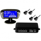 Car Wireless Parking Sensor Blue LCD Display 4 Sensors