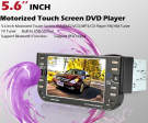 One Din Car DVD GPS 5.6 Inch LCD Screen with TV-Tuner Ipod FM Bluetooth USB Slot RDS