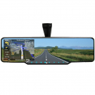 GPS Rear View Mirror Navigation with DVR Radar Detector Wireless Camera Parking Sensors Bluetooth FM