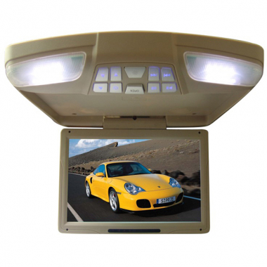 "12.1"" Roof Mount DVD Monitor Built-in IR FM USB Rotating Screen"
