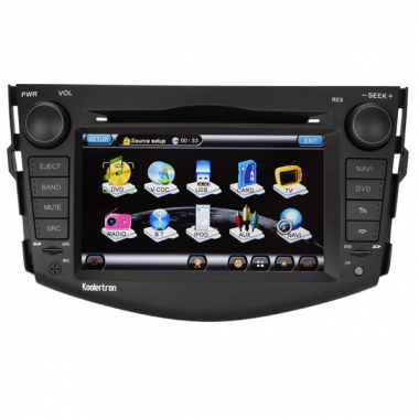 Double Din TOYOTA RAV4 DVD GPS Navigation TFT LCD Screen with TV Tuner Bluetooth FM/AM Auto Rear View function