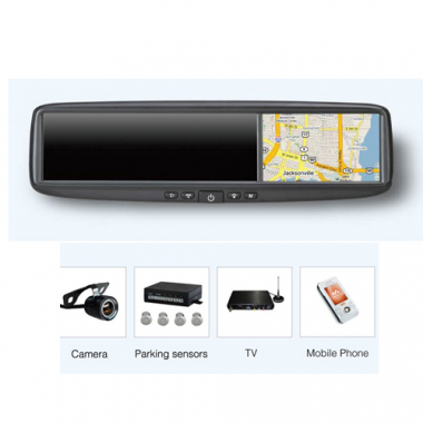 Smart Mirror Rear-view mirror with integrated GPS navigation