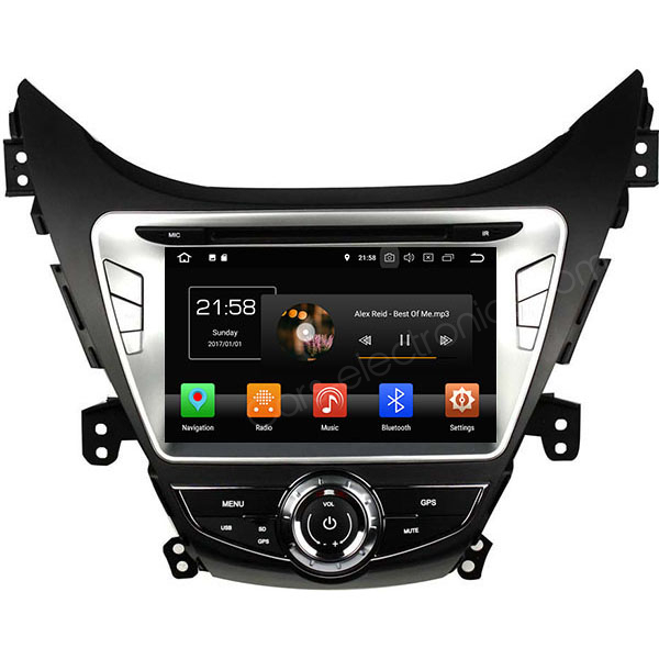 Android Hyundai Elantra Stereo Upgrade Navigation System DVD Player GPS Radio Head Unit - Click Image to Close