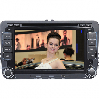 Double Din Car DVD Player for VW MAGOTAN /SATIGAR /Caddy/Touran /Bora/Skoda Superb/GOLF6 7 Inch lcd Digital Screen