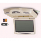 10.2 Inch Flip-Down Car LCD Monitor/ DVD Player with SD USB FM IR DVD MP4 DIVX