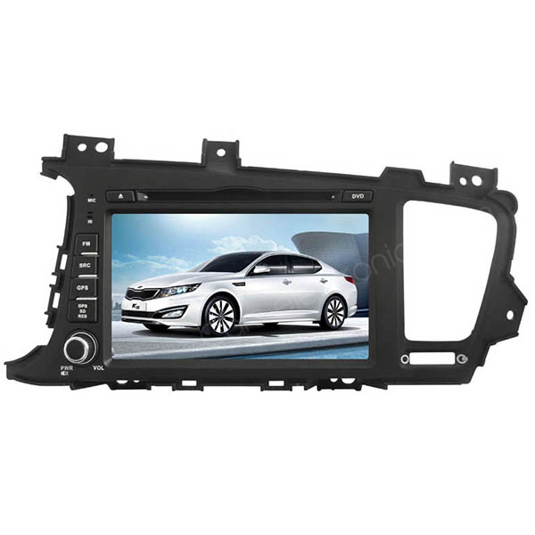 "2 Din Kia K5 DVD Player - Kia K5 GPS Navigation 8"" LCD Touch Screen Radio Bluetooth - Click Image to Close"