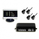 Car Parking Sensors with Black and White Back Lit LCD Display 4 Sensors