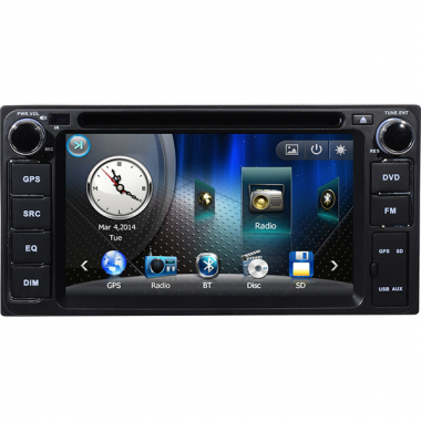 Car DVD Player with GPS for TOYOTA-COROLLA (old)/Previa/Vizi/Camry 2.4 /Florid/Vela/Vios (old) 6.2 Inch lcd Digital Screen