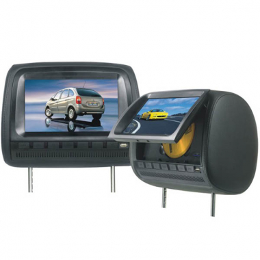 9-inch Headrest Car DVD Player with IR Games TFT LCD Digital Screen