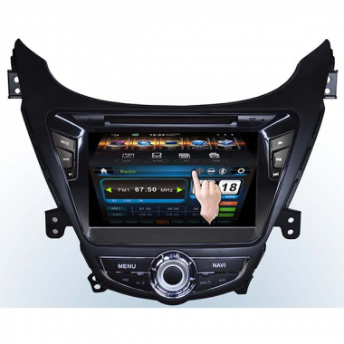 Dould Din Hyundai Elantra GPS DVD Player Head unit with 3D Menu