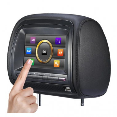 7 Inch Headrest Car DVD Player with TV FM USB IR One Pair