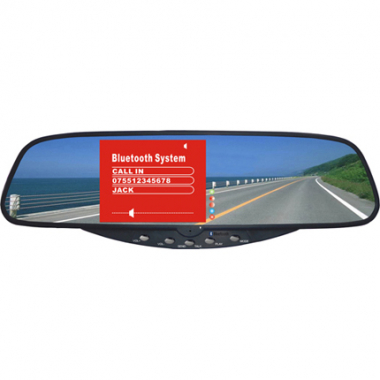 Bluetooth Rearview Mirror 3.5 Inch TFT LCD Car Handsfree Monitor Built in Microphone Speaker FM Transmitter