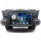 "Double Din TOYOTA Highlander DVD Player with GPS Navigation 8.0"" Digital Screen Bluetooth FM IPOD TV-Tuner"