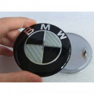BMW Hood Emblem 82mm Quality Carbon Fiber Emblem 50Pcs