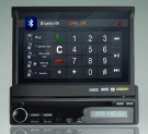 "7"" HD One Din Car DVD Player with GPS/iPod/Bluetooth/Radio"