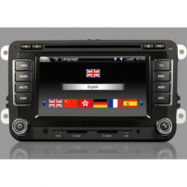 Volkswagen DVD Player 2 Din with GPS Can Bus Car Steering Wheel Control