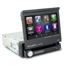 Single Din In dash Car DVD Player 7 Inch LCD Screen with GPS Navigation TV Bluetooth IPOD