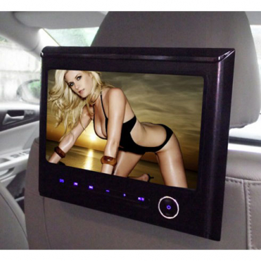 "9"" Headrest Tablet DVD Monitor with DVD SD USB FM IR"