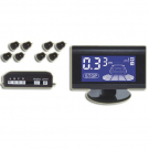 Car Parking Sensor Blue LCD Display with 8 Reverse Sensors