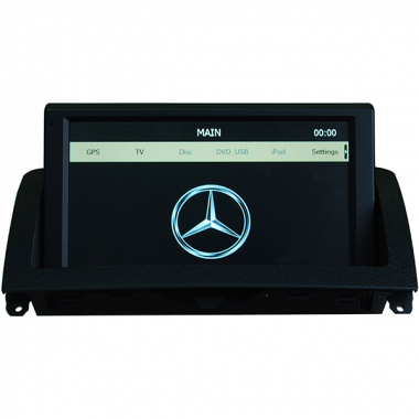 "8"" Mercedes C W204 GPS Navigation System touch screen with USB iPod SD Can-Bus"
