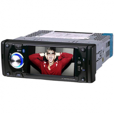 4.3 Inch One DIN Car DVD Player with GPS Navigation Bluetooth TV-Tuner USB FM RDS