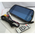 "7"" MP5 Rear View Mirror Monitor TFT LCD Screen with Back UP Camera"