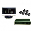 Wireless Car Parking Sensor with 6 Sensors Black and White Back lit