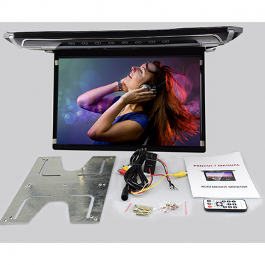 "10.2"" HD Roof Mount Monitor MP5 Super Slim With LED Lamp Remote Control"