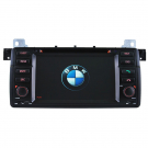 Double DIN BMW E46 DVD Player with GPS Navigation for BMW 3 Series E46 Plus 2G Card Steering Wheel Control FM