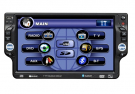 "7"" One Din DVD Player GPS Navi Bluetooth TV FM Detachable Lcd Panel Touch Screen"