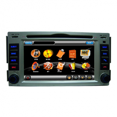 6.2 inch digita car dvd player with GPS Navigation/DVD/Bluetooth/TV/FM/AM/RDS/CDC for Hyunday 09 NEW SANTA FE