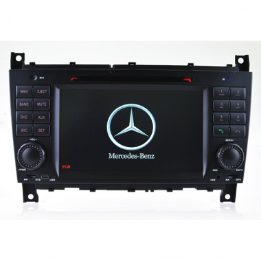 7.0 inch Benz C-W203 CLK W209 CLC DVD GPS Navigation with Can Bus Steering Wheel Control Free Map