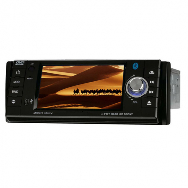 4.3 Inch One Din Car DVD Player with TFT LCD Touch Screen Bluetooth TV-Tuner USB FM RDS