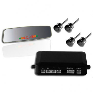 Car Parking Sensors with 4 sensors Rear Mirror LED Display