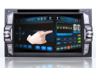New HD 2 DIn Car DVD Head unit GPS Navigation Bluetooth Radio iPod 3D Interface