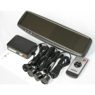 4.3 Inch Car LCD Monitor Rearview Mirror Monitor with Parking Sensors Kit Two Video Inputs