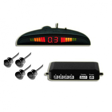 Car Parking Sensor System with Switch LED 4 Sensors