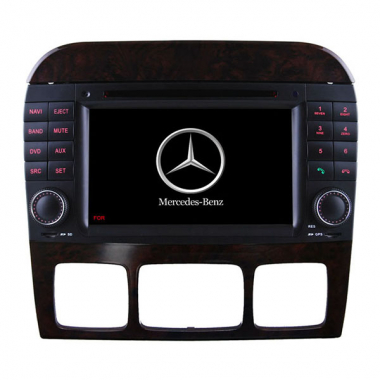 2 Din Benz W220 DVD Player S Class Benz W220 GPS Navigation Radio Bluetooth