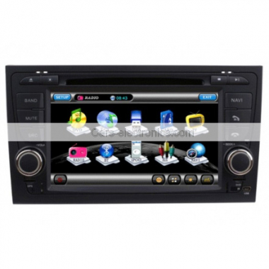 Special Car DVD Player for AUDI A4 GPS Navigation Year 2003-2008 with TV Can Bus Dual Zone