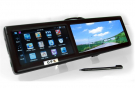GPS Mirror Bluetooth 4.3 inch Mirror Monitor with Battery Touch Screen