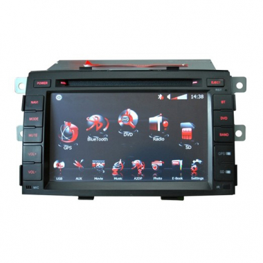 In-dash DVD Special for KIA New Sorento 7 Inch Digital Screen with Built-in Gps FM Steering Wheel Control