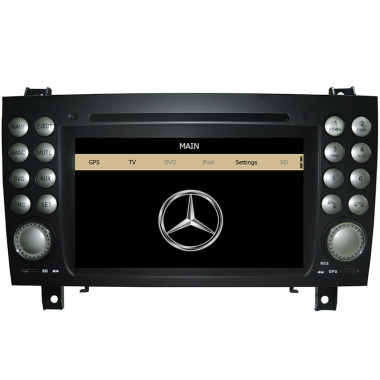2 Din Benz SLK-171 DVD Player - Benz SLK 171 GPS Navigation Radio Bluetooth Touch Screen