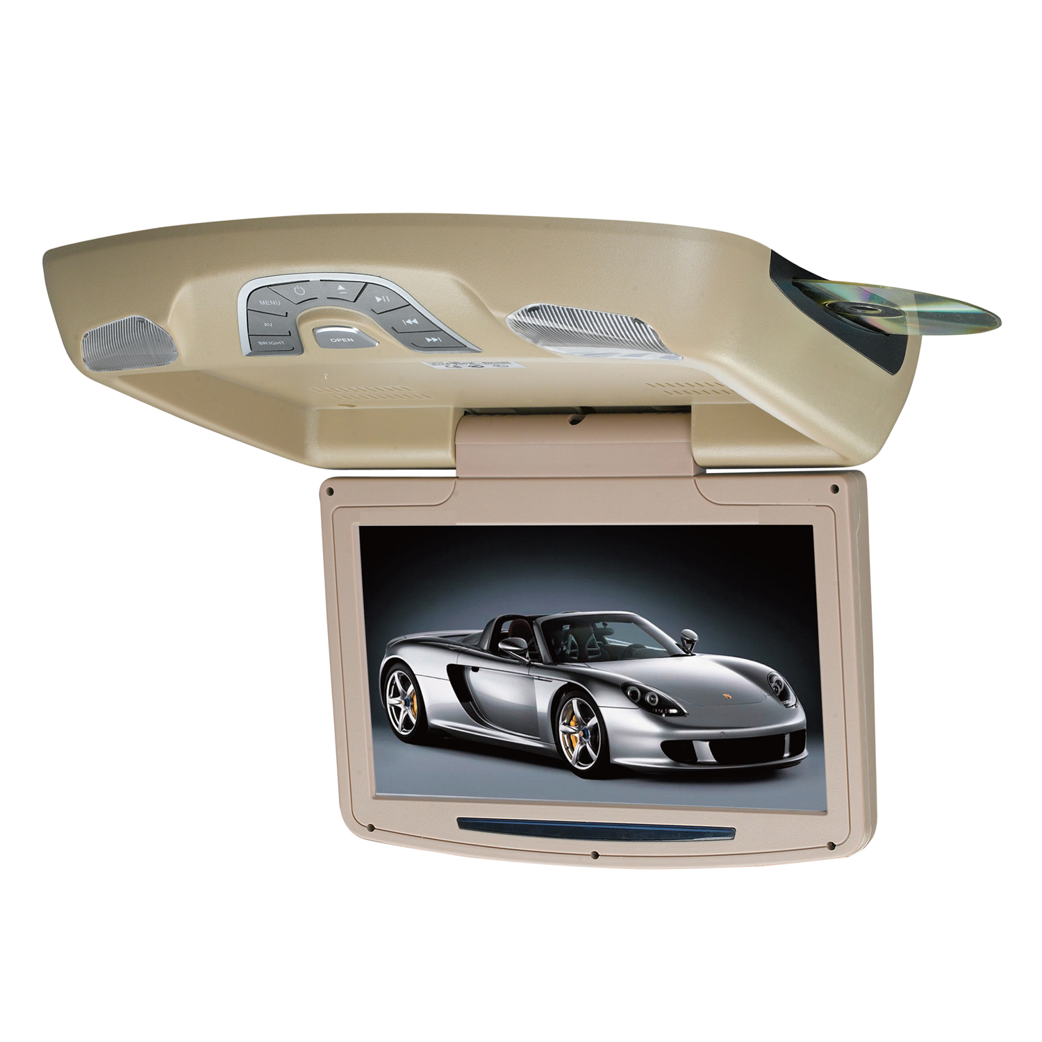15 6 Dvd Player Roof Mount In Car Flip Down Monitor Hdmi Suit 12v 24v Vehicle